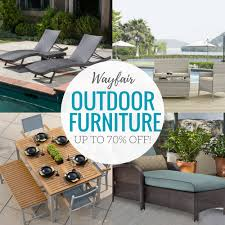 Wayfair Outdoor Furniture Sale with up to 70% off