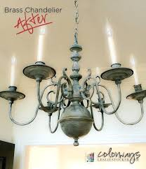 painted brass chandeliers transforming a chandelier with chalk paint and wax part 3 of colorways