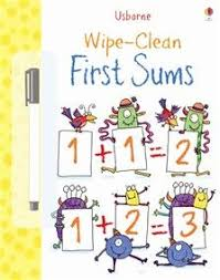 wipe clean first sums this fun book is a perfect way to help young children