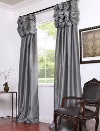 platinum embroidered ruched faux silk taffeta curtains window treatments lighting silk taffeta silk and window