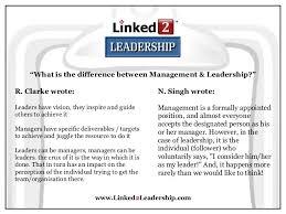 Good Leader Quotes Simple Management Vs Leadership Linked 48 Leadership