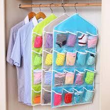 16 pockets socks hanging