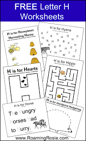 FREE Printable Letter H Alphabet Activities Worksheets from ...