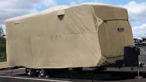 adco polypropylene storage lot rv er for travel trailer up to 24 long tan adco rv ers 290 74842