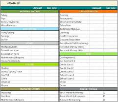 Budget Forms Pdf Budget Template Pdf Household Sample