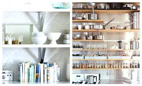 open wall shelving for kitchens fabulous and inspiring open kitchen shelves white brick wall glossy white open wall shelving