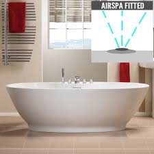 Oregon Freestanding Bath with Option 4 Whisper Airspa - 1850 x 850mm ...