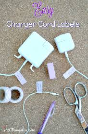 make easy diy charger cord labels in a few minutes no more lost cords