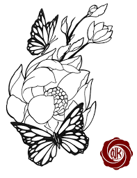 Peony Flower Tattoo Sketch Flowers Healthy