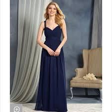 Alfred Angelo 7364l Bridesmaid Dress Navy Chiffon