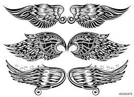 Fotografie Obraz Wings Tattoo Design Posterscz