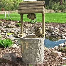 Outdoor ranch farm western wishing well water fountain for garden yard decor  waterfall oasis patio lawn