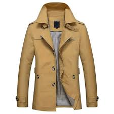 stylish leisure men trench coat