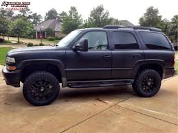 2001 Chevrolet Tahoe XD Series XD800 Misfit Wheels Matte Black