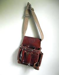 tool pouch tan leather belt 8 pocket klein 5165 tools leather
