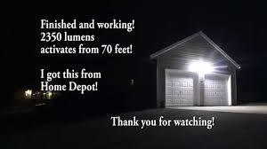 Defiant Outdoor Security Lighting 180 Bronze Led Motion Outdoor Security Light By Defiant