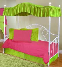 Canopy Covers for Twin Beds | Hot Pink Full Size Canopy Top Fabric ...