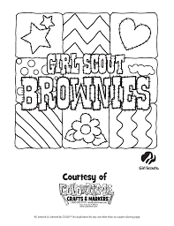 Coloring Pages Brownie Girl Scout Coloring Pages Png Free Printable
