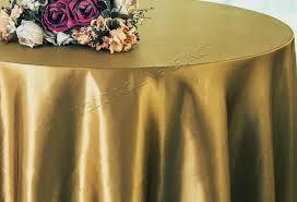 108 round satin tablecloths antique gold 55629 1pc pk