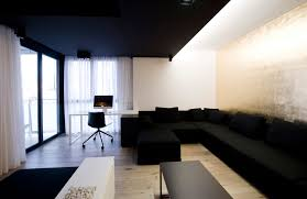 awesome office design. Awesome Black And White Office Design Ideas With Floating Agreeable Interiors Sofa Set Cushion Also Study Desk E