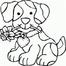 Dog Bite A Flower Coloring Page