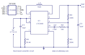 buck converter circuit diagram the wiring diagram buck boost converter using ltc3440 for an output voltage of 3 3 volts circuit diagram