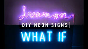 Diy Neon Sign Decor The Sorry Girls Youtube