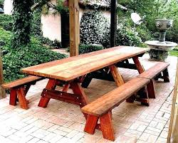 round wooden picnic table wood garden tables full image for heritage childrens with umbrella round wooden picnic table