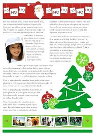 Templates For Christmas Letters Exclusive Newsletter Template Format