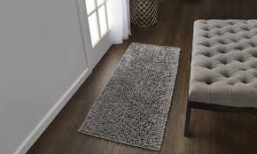 gala 2 tone chenille microfiber bath rug multiple sizes and options