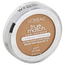 loreal true match super blendable makeup pact warm natural beige w4