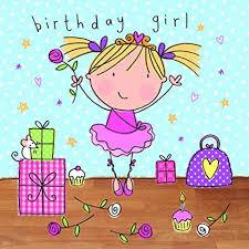 tarjetas de cumplea os para ni as twizler tarjeta de felicitación de cumpleaños para niña diseño de