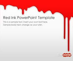 Free Red Ink Powerpoint Template Free Powerpoint Templates