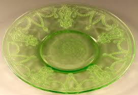 cameo depression glass green 6 inch sherbet plate hocking ballerina dancing girl