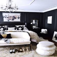 Black. Beautiful bedroom with black walls.
