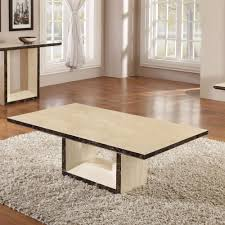 chic marble coffee table in cream cream coffee table set
