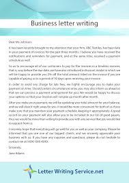 business letter writing sample
