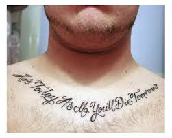 Good Tattoo Quotes Amazing Good Tattoo Quotes For Men Expression Of Words Written In Ink 48