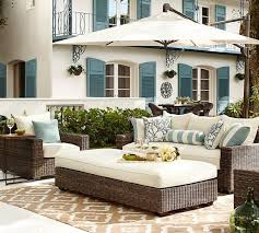 pottery barn outdoor sectional palmetto all weather wicker set honey round cantilever umbrella solid sunbrella pertaining to furniture prepare 39 jpg