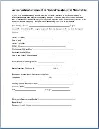 Printable Medical Release Form For Children Cool Child Medical Consent Form Template Alfonsovacca