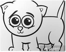 Canvas Baby Kitten Cartoon Kleurplaat