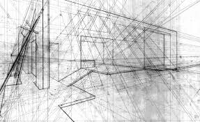layered perspective by Daniel Houghton Architectural Drawing
