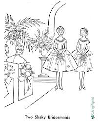 Free download 40 best quality wedding couple coloring pages at getdrawings. Bride Coloring Pages Wedding Bridesmaids