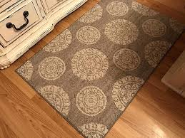 large circle rug since the pattern repeats i placed the large circle in the enter and