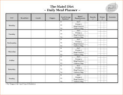 Daily Food Planner Free Daily Meal Planner Template Todl