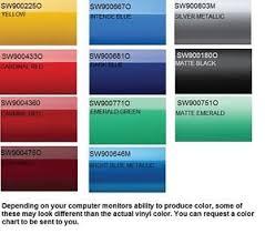 Vinyl Wrap Color Chart