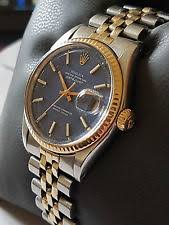 mens rolex watches rolex watches for rolex datejust steel gold blue dial model number 1601