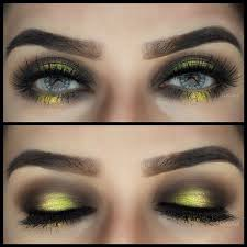 maybe eye makeup for bubble bee costume for