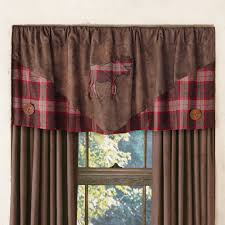 Plaid Kitchen Curtains Valances Rustic Curtains Cabin Window Treatments