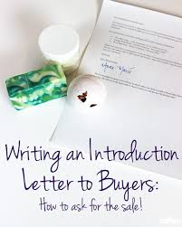 New Product Introduction Letter Template New Writing An Introduction Letter To Buyers Ask For The Sale Soap Queen
